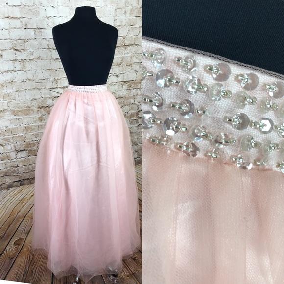 Dresses   Skirts - Formal semi formal baby pink tulle maxi skirt da036d6ae